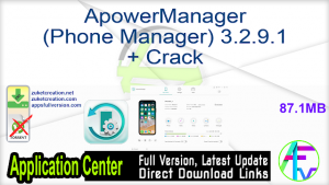 Apowersoft ApowerManager 3.2.9.1 Crack With Serial Key 2021